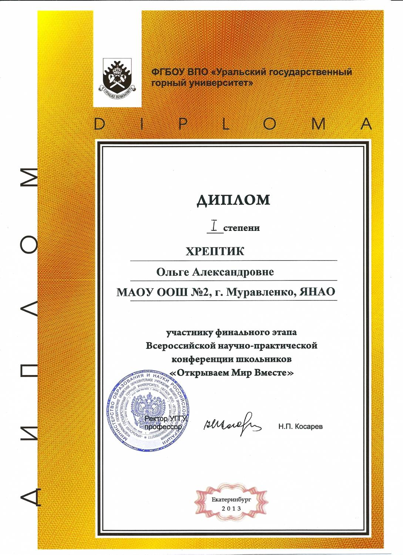 Всероссийский конкурс исследовательских работ школьников